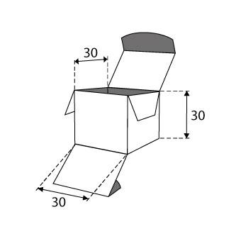 Faltschachteln mit Einstecklaschen 30x30x30mm
