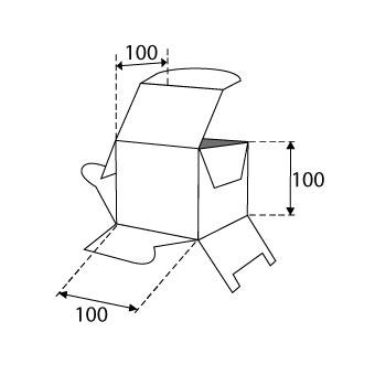 Faltschachteln mit Steckboden 100x100x100mm