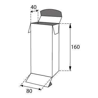 Faltschachteln mit Einstecklaschen 80x40x160mm
