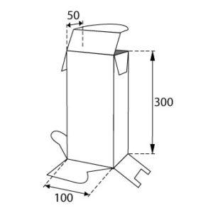 Faltschachteln mit Steckboden 100x50x300mm